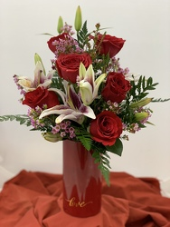 "The ""I Love You"" Bouquet from Designs by Dennis, florist in Kingfisher, OK"