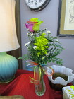 Single Rainbow Rose Budvase from Designs by Dennis, florist in Kingfisher, OK