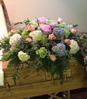 Loving Treasure Casket Spray from Designs by Dennis, florist in Kingfisher, OK