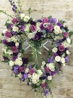 Precious Purple Heart Wreath from Designs by Dennis, florist in Kingfisher, OK