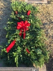 Fresh Evergreen Grave Blanket from Designs by Dennis, florist in Kingfisher, OK