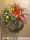 Garden Grapevine Wreath from Designs by Dennis, florist in Kingfisher, OK