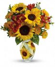 Teleflora's Simply Sunny Bouquet from Designs by Dennis, florist in Kingfisher, OK
