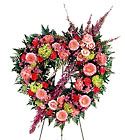 FTD Eternal Rest Heart Wreath from Designs by Dennis, florist in Kingfisher, OK