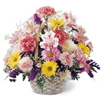 Basket of Cheer Bouquet from Designs by Dennis, florist in Kingfisher, OK