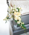 Elegant Remembrance Casket Adornment from Designs by Dennis, florist in Kingfisher, OK