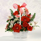 The Red and White Delight Bouquet from Designs by Dennis, florist in Kingfisher, OK
