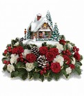 Thomas Kinkade's A Kiss For Santa from Designs by Dennis, florist in Kingfisher, OK