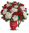 Merry Mug Bouquet from Designs by Dennis, florist in Kingfisher, OK