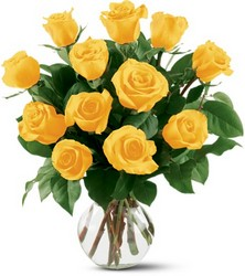 12 Yellow Roses from Designs by Dennis, florist in Kingfisher, OK