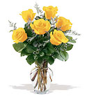 6 Yellow Roses from Designs by Dennis, florist in Kingfisher, OK